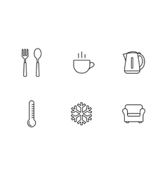 Accommodation booking icon set vector image vector image