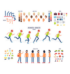 create your own character colorful set vector image vector image