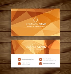 Abstract orange business card vector