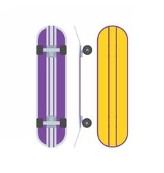Skatedboard Desk Set vector image vector image