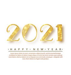 2021happy new year gold numbers design vector