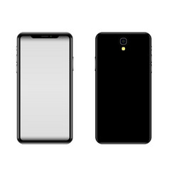 a modern model of a black smartphone face and vector image