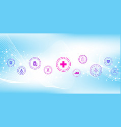 abstract health care banner template with flat vector image