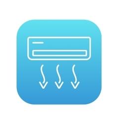 Air conditioner line icon vector