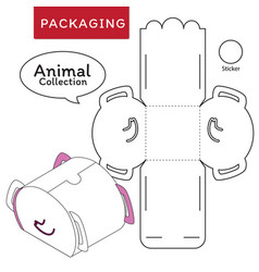 animal collection boxpackage vector image