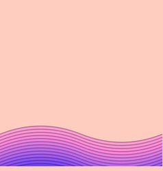 background template from curved stripes vector image