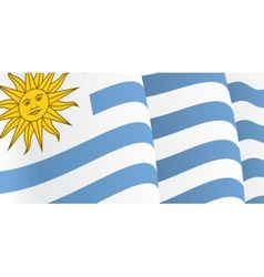Background with waving Uruguayan Flag vector