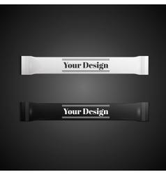 Blank white plastic sachet for medicine condoms vector image