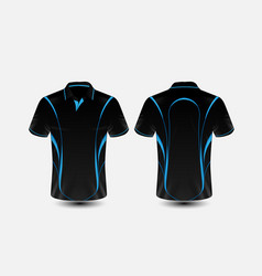 Blue and black layout e-sport t-shirt design vector