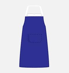 Blue apron vector image