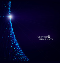 Blue sparkles template vector