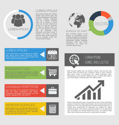 Business activity infographics vector