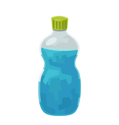 cartoon water bottle isolated on white background vector image