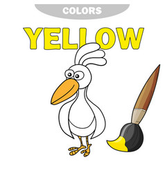 coloring book - finny bird learn colors vector image