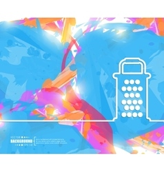 Creative grater Art template vector