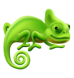 cute chameleon vector image vector image