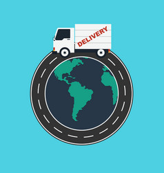 Delivery service worldwide logistic business vector