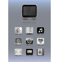 Detailed icons for smartphone vector image
