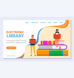 educating with books in online library vector image