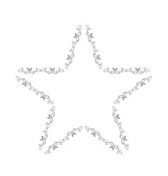 elegant victorian with star shape frame vector image