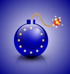 European crisis icon vector image