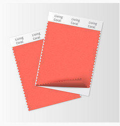 fabric samples textile swatch template vector image
