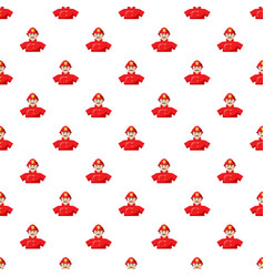 Fireman pattern seamless vector