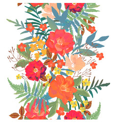 flowers seamless border hand drawn for print vector image