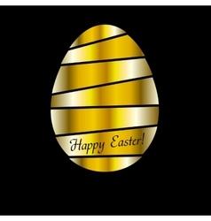 Golden Easter egg background vector image