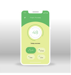 green fitness ui ux gui screen for mobile apps vector image