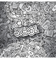 hand drawn school sketch background vector image