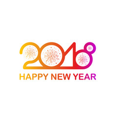 happy new year 2018 of vector image