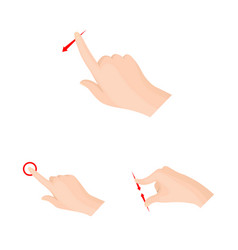 isolated object of touchscreen and hand symbol vector image