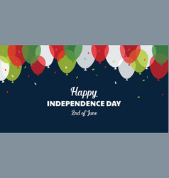italian independence day celebration second vector image