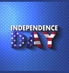 july fourth happy independence day calligraphy vector image