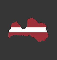 latvia flag and map vector image