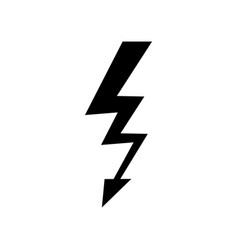 lightning icon simple flat symbol vector image