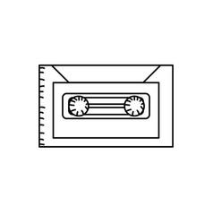 line retro cassete to listen kind music vector image vector image