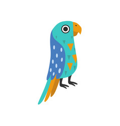 macaw parrot tropical bird with colored feathers vector image