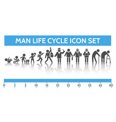 man ages icons vector image