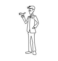 man people character human profession vector image