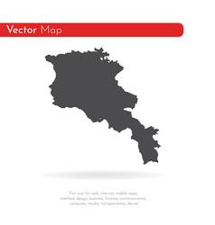 map armenia isolated black vector image