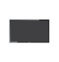 Modern led tv screen with realistic reflection vector