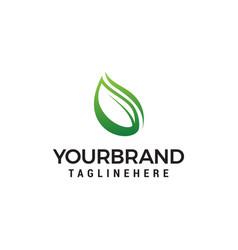 Natural leaf logo design concept template vector