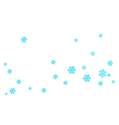 New years christmas chaotic group of snowflakes vector