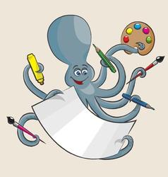 Octopus vector image