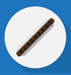 of mp3 symbol on clarinet flat vector image