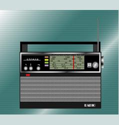old black radio receiver vector image