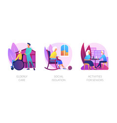 Old people lifestyle concept metaphors vector