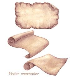 Parchment set vector image